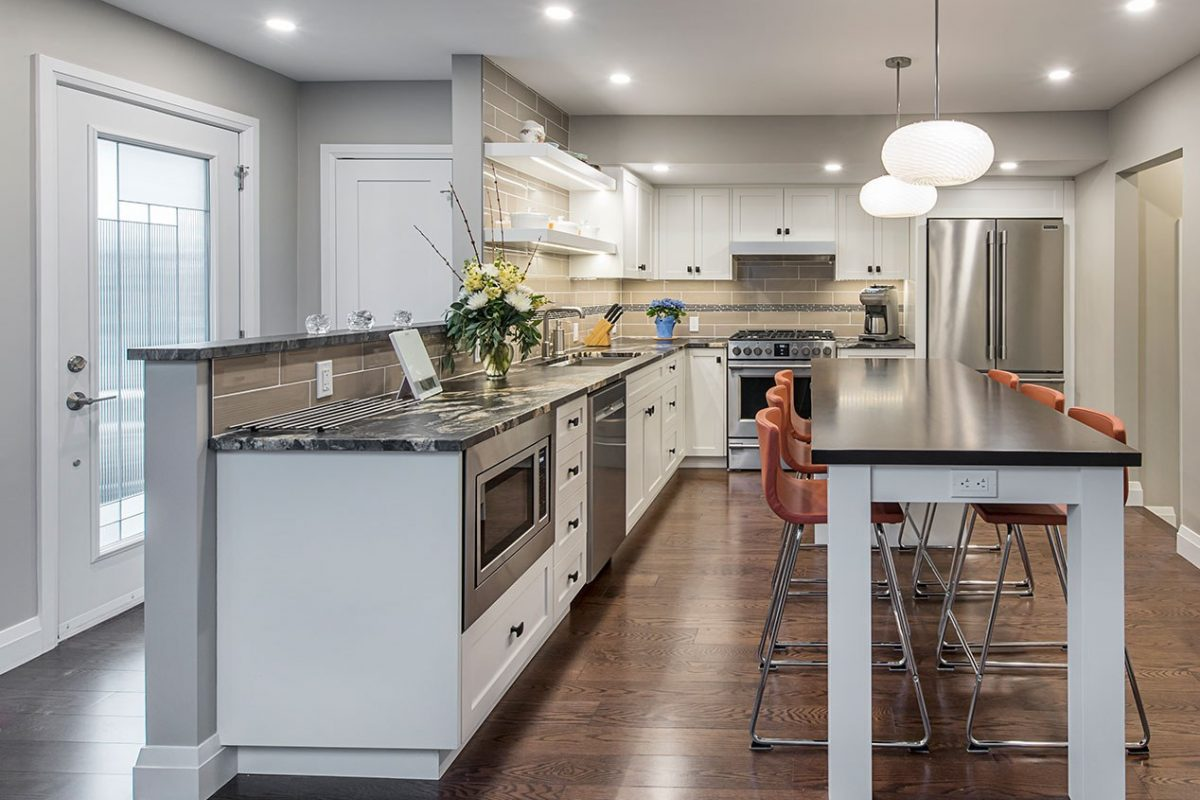 Home addition that includes a custom designed kitchen